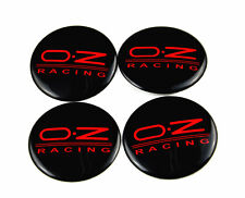 4 x Sticker O.Z Racing Black Red Style Wheel Center Hub Caps Badge Emblem 57mm