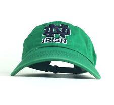 Norte Dame Irish Green Baseball Cap Hat Adj Adult Size Cotton NCAA University