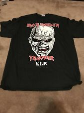IRON MAIDEN TROOPER BEER VIP T SHIRT XL EXTREMELY RARE ONLY AVAILABLE VIP EDDIE