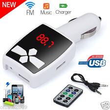 12V MP3 Player Wireless FM Transmitter Modulator Car Kit USB SD MMC LCD Remote