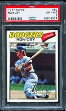 1977 Topps Baseball #50 RON CEY Los Angeles Dodgers PSA 8 NM-MT