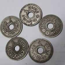 Siamrath 10  Satang 5 Coins Thailand 1921 Rare Old Collectible  B.E.2464