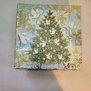 Punch Studio Decorative Christmas Tree With Doves Keepsake Box 51825