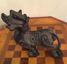 New listing Wood carved dragon Kirin Foo Dog antique Chinese 19th C 10� intricately detailed