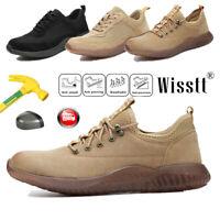 Men's Work Safety Shoes Indestructible Steel Toe Racer Combat Waterproof Boots