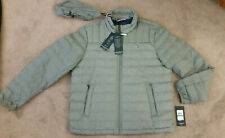 Mens Tommy Hilfiger Packable Down Jacket Gray Size Large NEW