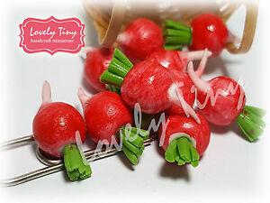 10 Pcs.Loose Radish Dollhouse Miniatures Vegetable