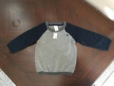 H&M Baby Boy Blue Gray Sweater Size 6-9 months Nwt