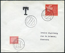 LUXEMBOURG POSTAGE DUE OBERCORN INTERNAL 1965