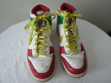 Nike Dunk High Shoes, Size 10, Red/ White/ Yellow/ Green Rasta RARE!
