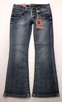 U187 NWT Wall Flower Jeans LEGENDARY BOOTCUT Super Stretch sz 7 Short (30.5x29)