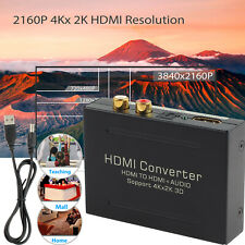 4K HDMI to HDMI & Optical SPDIF RCA Analog Audio Extractor Converter Splitter US