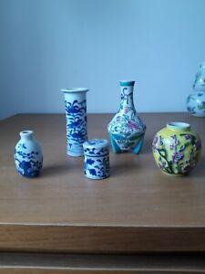 Antique chinese miniature vases