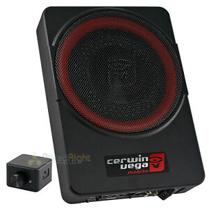 "Cerwin Vega 10"" Low Profile Amplified Subwoofer 550 Watts Max Power Vega VPAS10"