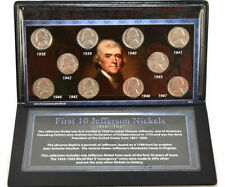 First Commemorative Mint 1938 - 1947 First 10 Jefferson Nickel Collection