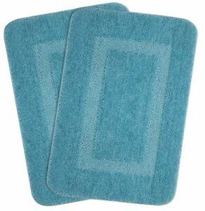 Anti- Skid Microfiber Bathmat , Turquoise (Set of 2,45x70 Cm) For Living Room