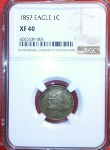 1857 flying eagle cent xf