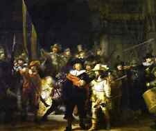 The Night Watch  by Rembrandt  Giclee Canvas Print Repro