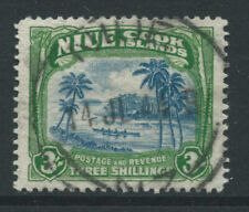 More details for cook islands nuie 1938 george vi 3/- sg77 watermark 43 - fine used catalogue £25
