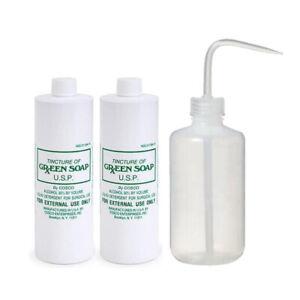 2x 16oz Cosco Green Soap Tattoo Stencil Wash and 1x 16oz Diffuser Squeeze Bottle