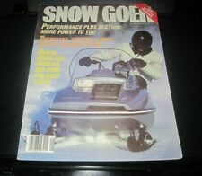 Vintage Snow Goer magazine 1983 polaris yamaha