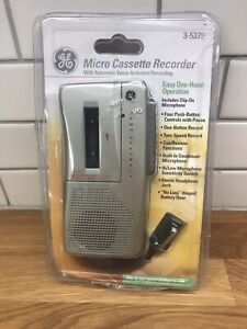Vintage General Electric GE Micro Cassette Handheld Activated Recorder  3-5375