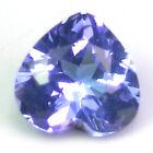 CAPTIVATING GEM NATURAL BRIGHT PURPLE BLUE TANZANITE - HEART SHAPE