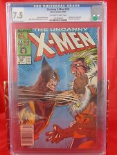 Marvel Comics Uncanny X-Men #222 CGC 7.5 Wolverine V Sabertooth.. Marauders App.