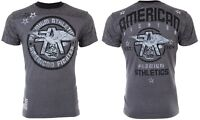 AMERICAN FIGHTER Mens T-Shirt MISSOURI Athletic CHARCOAL Biker Gym MMA $40