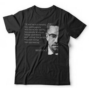 Malcolm X Quote Tshirt Unisex - Propaganda, Civil Rights, Power