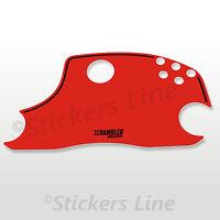 Adesivo Cupolino Ducati Scrambler colore rosso red alta qualità