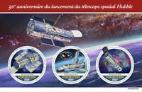 Niger Space Stamps 2020 MNH Hubble Telescope Launch 30th Anniv Telescopes 4v M/S