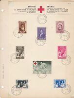 Belgium 1939 Red Cross Souvenir Stamps Page Ref 45481