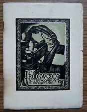 ROOKWOOD POTTERY Co c1915 History Booklet with List of Decorator Marks