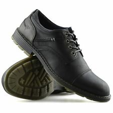 Mens Smart Casual Comfort Lace Up Work Office Formal Derby Toe Cap Shoes Size