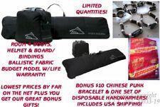 NEW HIGH SIERRA SNOWBOARD SLEEVE/BAG & BOOT BAG COMBO - BLACK + BONUSES