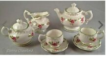 MINIATURE TEA SET ROYAL CROWN DUCHY ENGLISH FINE BONE