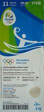 TICKET 11.8.2016 Olympia Rio Water Polo Woman's Russland - Brasilien # E78