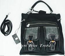 Fashion Tote Bag Faux Leather Shoulder Bag Handbag New Style #1140 Color: Black