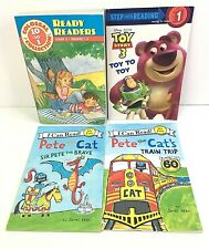 Early Readers Lot of 4 Pete the Cat, Toy Story 3, Story Collection Book B18