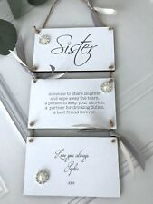 Personalised Sister Sign/Plaque Wall Hanging Gift/Keepsake P266