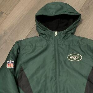 New York Jets Winter Jacket Boys Medium Youth NFL Football Hooded Heavy Warm