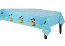 Baby Boy First Birthday Plastic Table Cover Mickey 1st Party Decoration Supplies