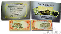 THE VIETNAM WAR - 1972 South Vietnam 500 Dong P33 in Folder + Story/COA Banknote