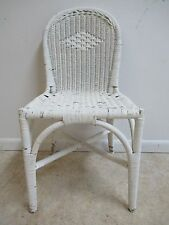 Antique Wicker Outdoor Patio Porch Desk Side Chair