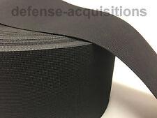 Heavy Duty Military Elastic Webbing 5 INCH MIL-W-5664 BLACK MilSpec - Per Yard