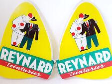 ENSEIGNE 50'S EN PLASTIQUE MOULE 1950 REYNARD TEINTURIER 50S VINTAGE ANNEES 50