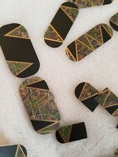 "Jamberry Nail Wraps Partial Sheet ""Big Woods"" Camo Camouflage Pattern"