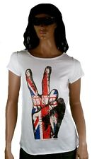 Amplified offi. THE WHO Union Jack VICTORIA Rock Star Vintage Diseñador Camiseta