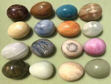 Lot Of Antique Vintage 16 Marble Stone Glass Rock Collector Eggs